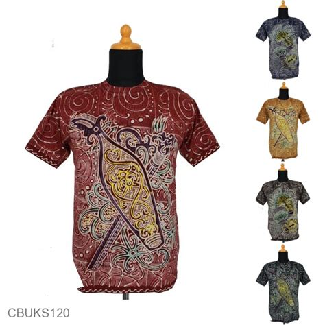 Kaos Motif kaos batik katun motif dayak kalimantan kaos murah