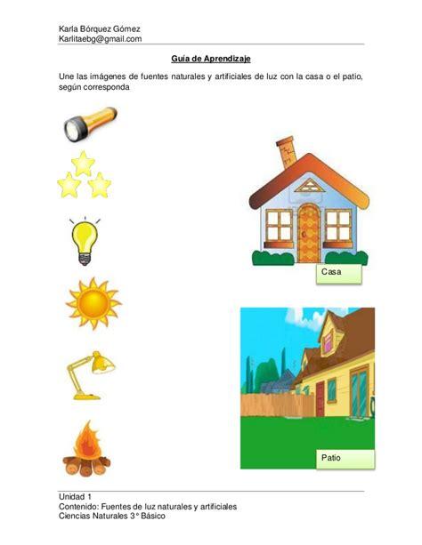 imagenes de elementos naturales y artificiales gu 237 a de aprendizaje clase 3 fuentes naturales y