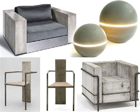 cool or cold modern concrete and steel chair designs