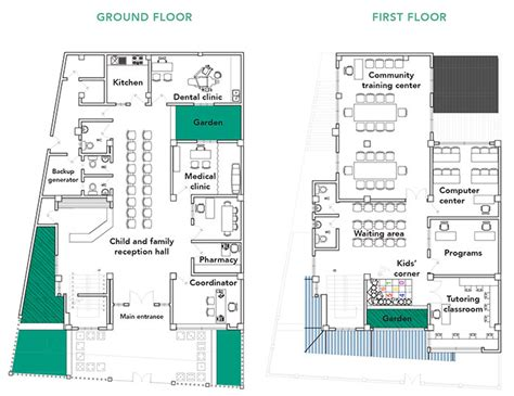 youth center floor plans cartagena community center and youth resource center