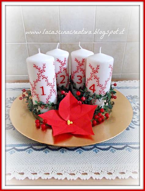 candele dell avvento la cascina creativa oro rosso e verde per la corona dell