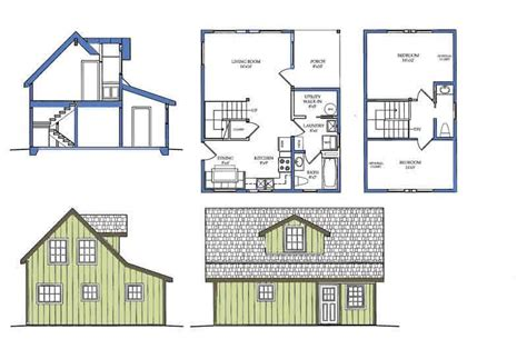 tiny cabin floor plans carriage house plans small house floor plan