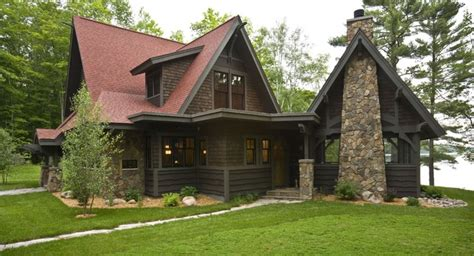 rustic cabin rustic exterior minneapolis by nancekivell home planning design