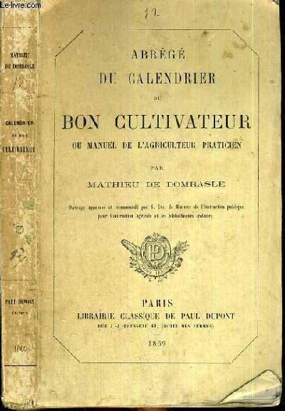 Calendrier Agriculteur Abrege Du Calendrier Du Bon Cultivateur Ou Manuel De L