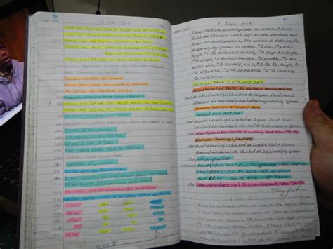 color coded notes 1 june 2013 lots of colors so that it is black and white