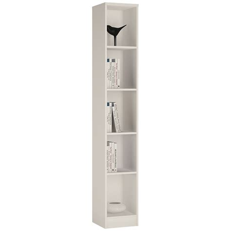 narrow bookcase white 4 you narrow bookcase in pearl white