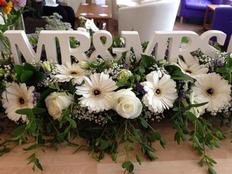 Wedding Top Table design by Shelley Whiting of The Flower