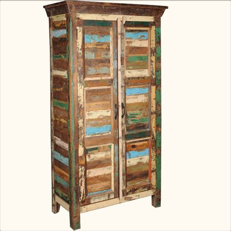 distressed wood armoire rustic old reclaimed wood distressed storage wardrobe