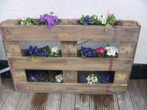 Wooden Pallet Vertical Garden Wooden Pallet Planted With Flowers