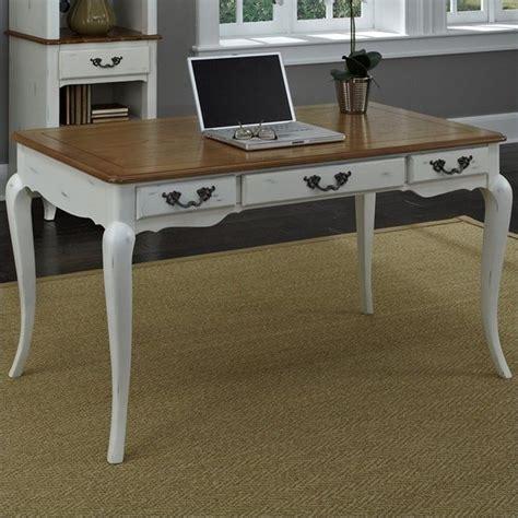 executive desk white executive desk in oak and rubbed white 5518 15