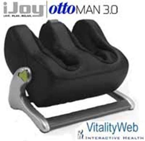 ijoy ottoman 3 0 calf leg massager ijoy interactive health human touch ottoman 3 0 footrest