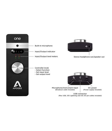 Apogee Fitness 1 by Buy Apogee One Audio Studio Quality Audio Interface And