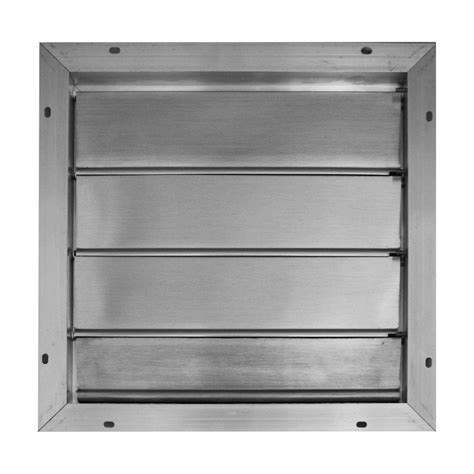 12 inch exhaust fan with louvers broan 16 75 in x 16 75 in aluminum automatic gable