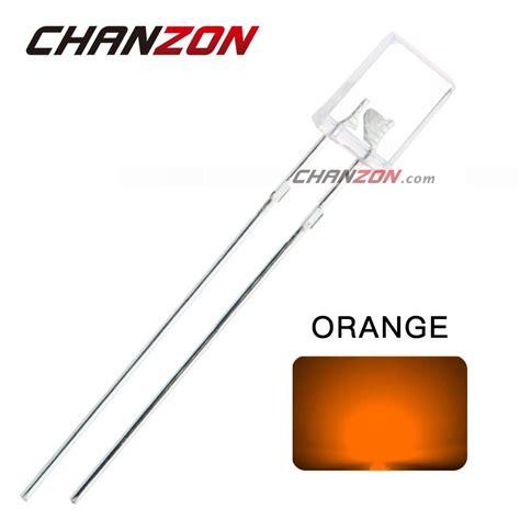 diode led orange 100pcs 2 5 7mm square orange light emititng diodes water rectangle led l it requirements au