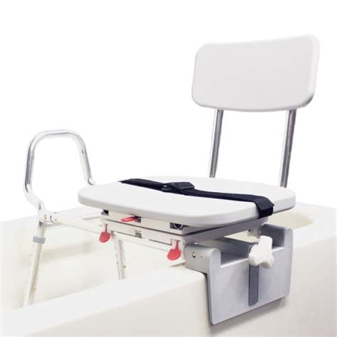 sliding transfer bench with swivel seat snap n save sliding tub mount transfer bench with swivel