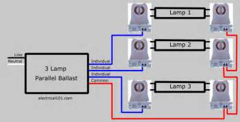 parallel ballast lholder wiring electrical 101