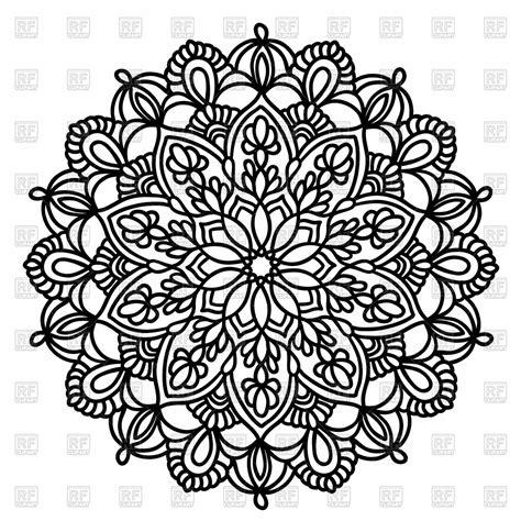pattern mandala vector ornamental round pattern with floral elements mandala