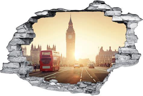 3d Sticker London by Stickers Trompe L Oeil 3d London Pas Cher