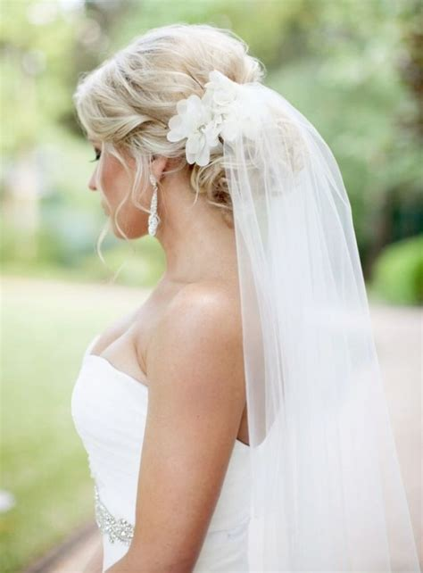 Wedding Hairstyles With Flowers And Veil by Wedding Hairstyles For Hair Updo With Veil Hairstyles