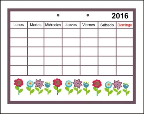 Calendarios De Calendarios 2016 Con Dibujos Para Ni 241 Os Para Descargar E