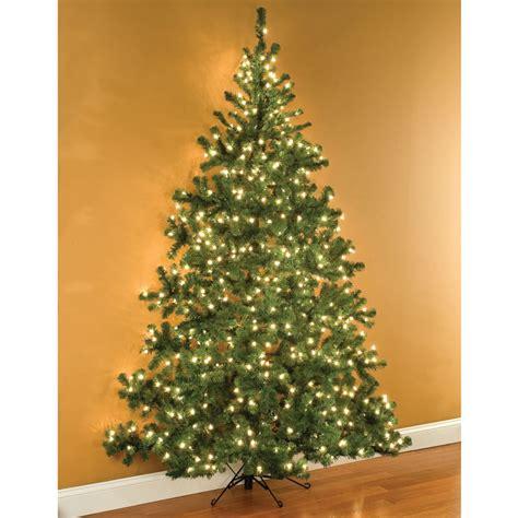 the 7 1 2 foot wall christmas tree hammacher schlemmer