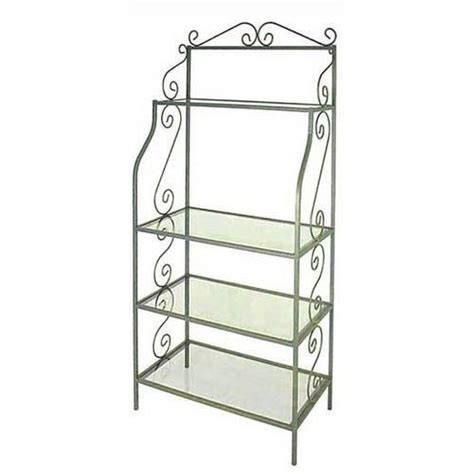 Bakers Rack Shelf by Austine Bakers Rack With Glass Shelves Bakers Racks At