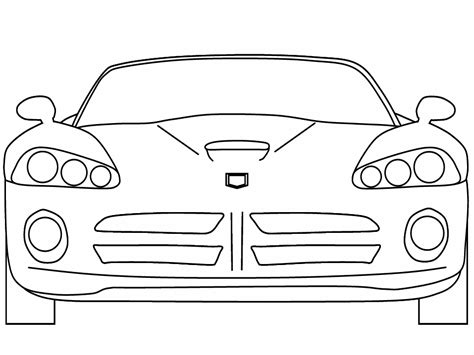 very simple coloring page for boys with car auto kleurplaat 187 animaatjes nl