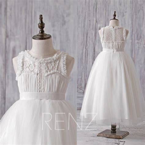 dress tutu hk 2016 white junior bridesmaid dress flower lace neck
