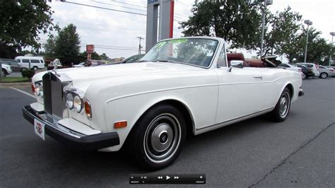 rolls royce corniche review 1979 rolls royce corniche convertible start up exhaust