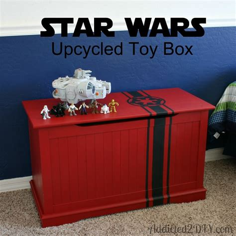 10 cool diy toy box projects kidsomania star wars upcycled toy box with free svg file addicted