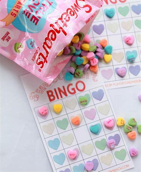 conversation hearts bingo cards template conversation hearts bingo