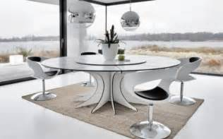 Modern White Dining Tables With Sleek Dining Room » Home Design 2017