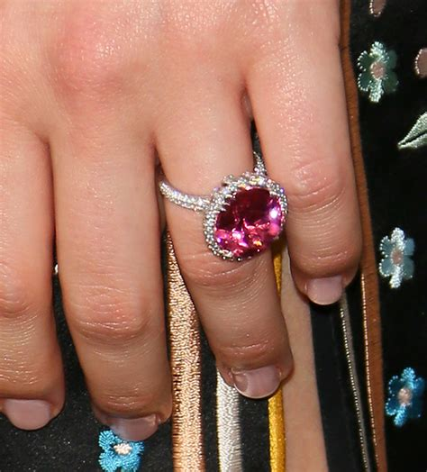 margot robbie ring is margot robbie engaged actress flashes huge diamond