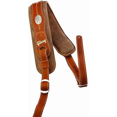 comfortable guitar strap gibson austin premium comfort guitar strap brown music123