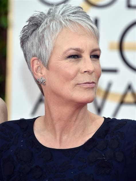 what hair colour was jamie lee curtis in her younger days gray hair how to make the most of going gray allure