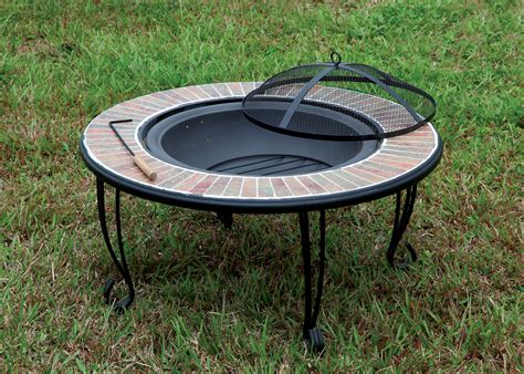ceramic firepit furniture of america 34 quot cast iron pit with ceramic