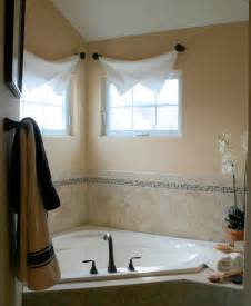 Dressing Small Windows Designs Clever Yet Thifty Window Treatments Traditional Bathroom Chicago By Julea Reinventing Space