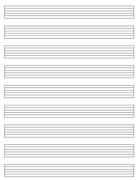 guitar tab template blank sheet paper for guitar