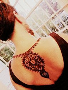 back tattoo winnipeg henna artist lady lorelie