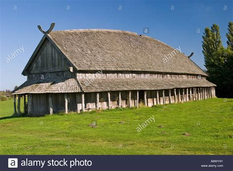 viking house viking house from trelleborg slagelse denmark stock photo royalty free image