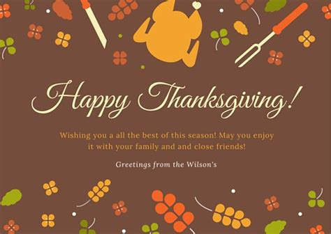 thanksgiving greeting cards for business template classic thanksgiving greeting card templates by canva