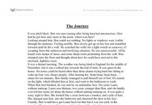 Creative Writing Essay by The Journey Creative Writing Gcse Marked By Teachers