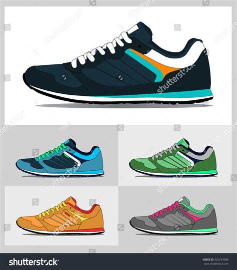 running shoes vector vector running shoes sneakers stock vector 320193998
