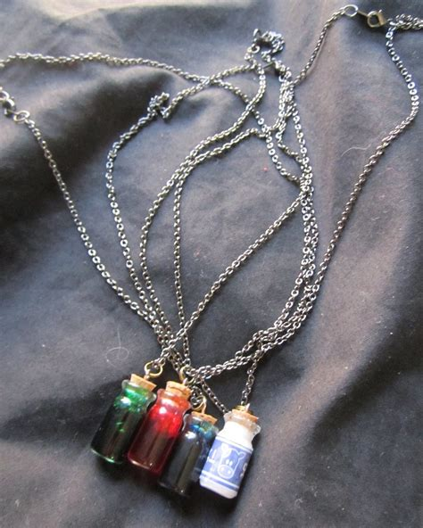 legend of potion bottle necklace by