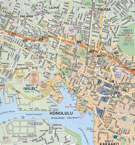 honolulu map honolulu map free printable maps