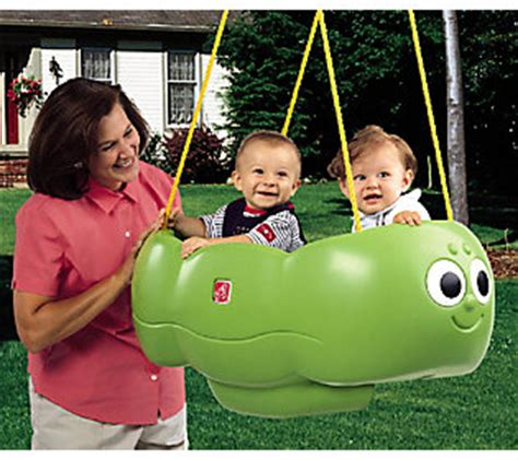 step 2 caterpillar swing for two step2 caterpillar swing for two qvc com