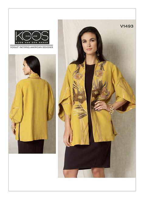 Omona Tunic colorblocked crepe koos den akker kimono jacket v1493 sew pomona