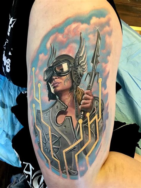 bohemian tattoo kokomo cyberpunk valkyrie done by amazingly talented tim boor at