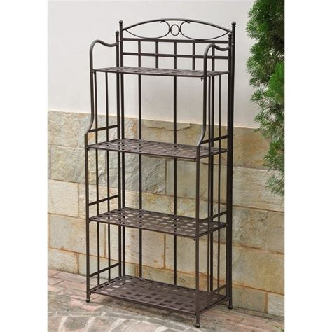 Bakers Rack With Doors by Outdoor Iron Bakers Rack 3570