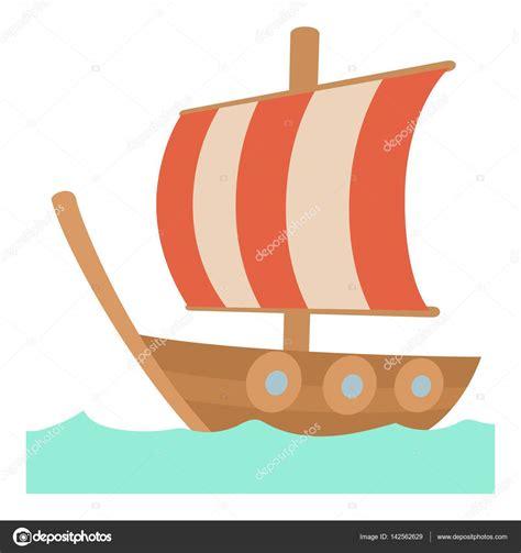 barco de bela dibujo vela barco icono de estilo de dibujos animados vector de
